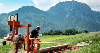 Cheese making, farming & sawmilling in the Slovenian Alps