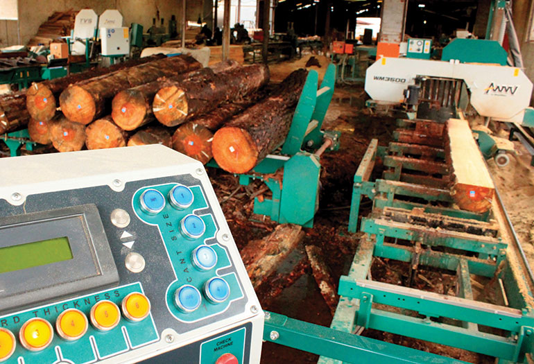 Twin Vertical Saw and Wood-Mizer sawmill at CRS Timber