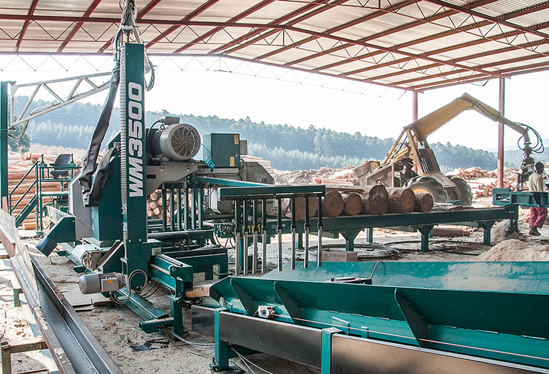 Wood-Mizer WM3500 sawmill at CRS Timber in South Africa