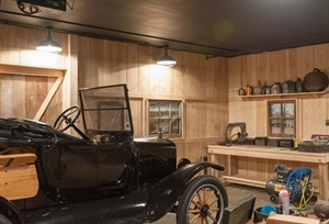 Model T Ford Club Creates Vintage Ash Wood Garage