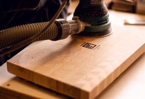 Making end grain cutting boards in Canada