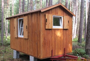 Mobile house built by German sawmiller