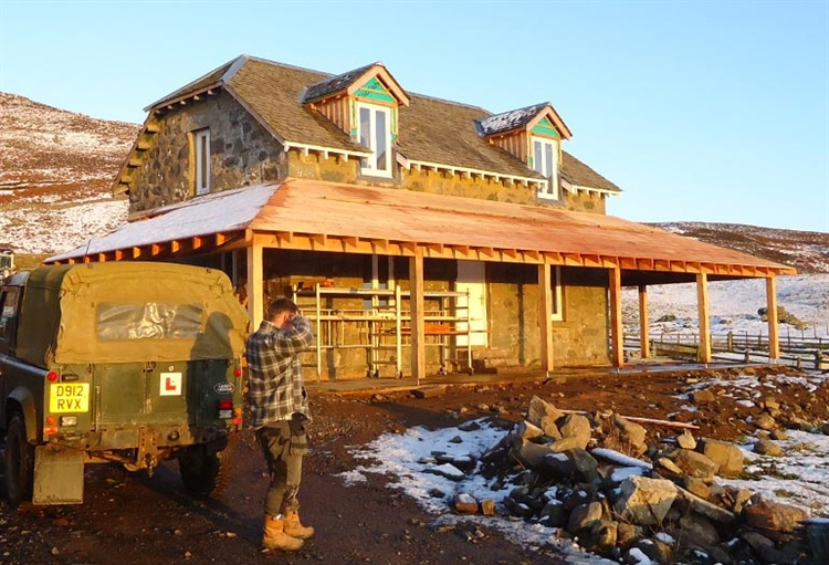 LT40 sawmill enables restoration of rural shooting lodge in the Scottish Highlands