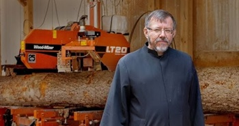 Monks use Wood-Mizer sawmill to restore 12th century...