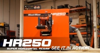 HR250 twin blade horizontal band resaw