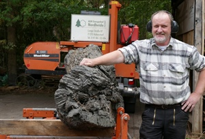 Wood-Mizer Sawmill Cuts 2,000-Year-Old Bog Oak in Germany