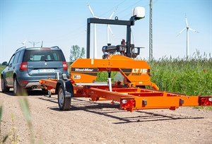 The World Renowned Wood-Mizer LT15 Sawmill is Now Mobile