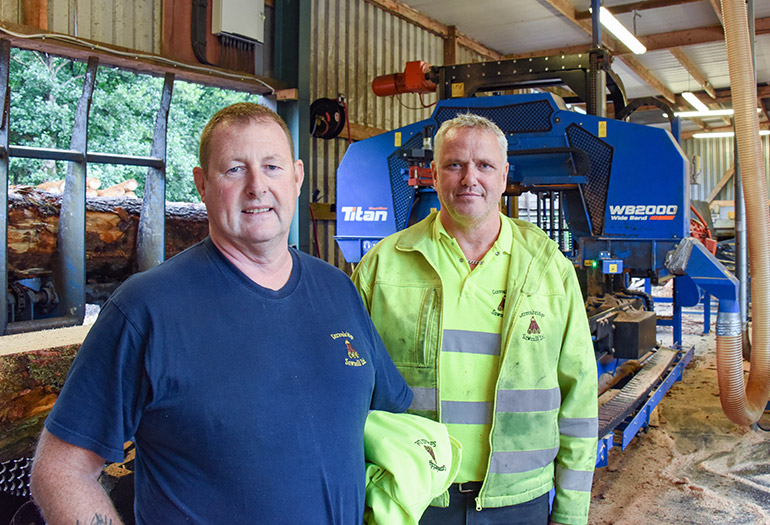 Size matters - Wood-Mizer's WB2000 wideband sawmill in the UK
