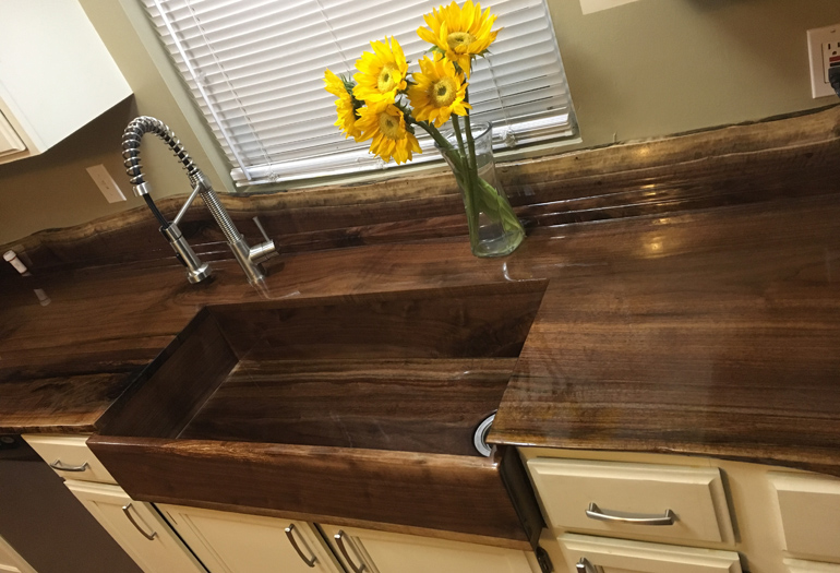Diy Wood Sink And Countertop For Farmhouse