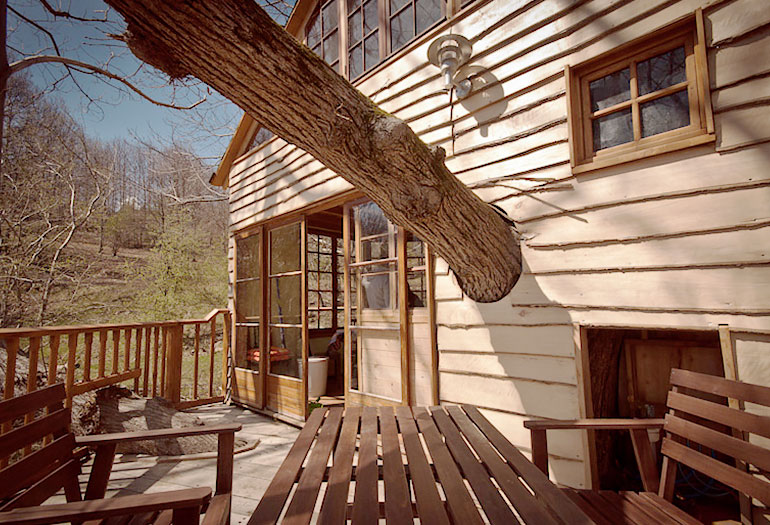 French Campsite Uses Lt40 To Cut The Timber For Treehouse